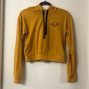 ‼️3 for $25‼️ Cropped planet hoodie NWOT